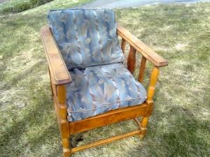 Sliten stol