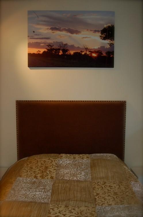 Vakker solnedgang over deilig seng!