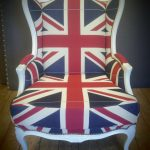 Rokokko stol i Union Jack tekstil