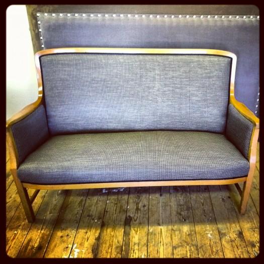 Sofa i nytt tekstil