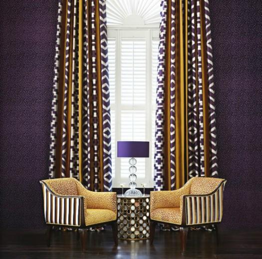 Gjennomført i tekstiler fra Osborne & Little