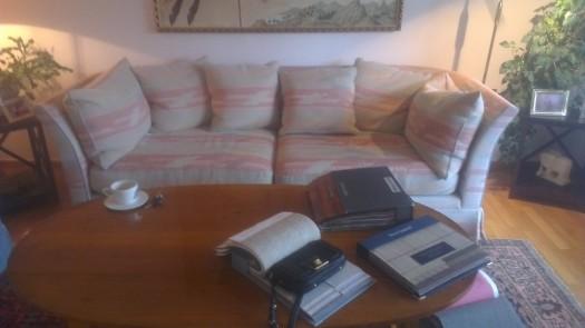 Sofa i de fine 80-tals fargene..!