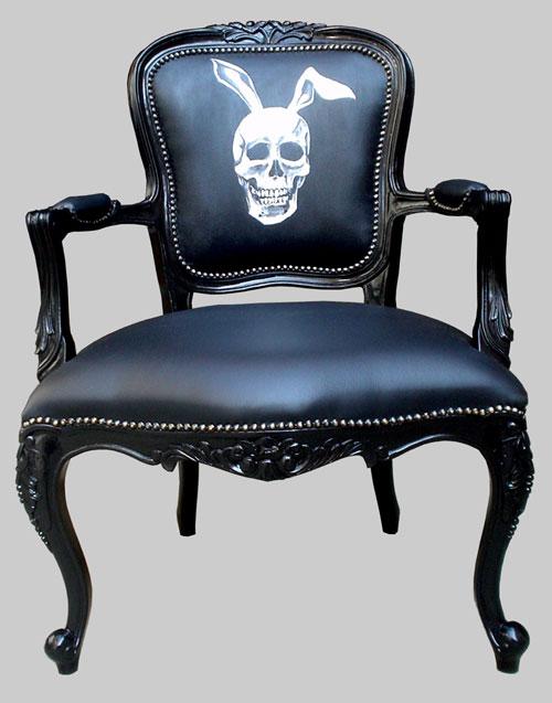 Bunny skull Rokokko stol