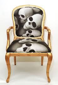 Lekker gull/skull stol