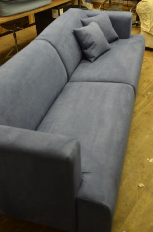 Erik Jørgensen sofa trukket om i Alcantara