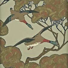Mulberry flying Ducks velvet