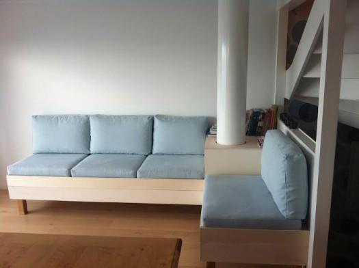 Plassbygd Sofa sydd i tekstilet Linara